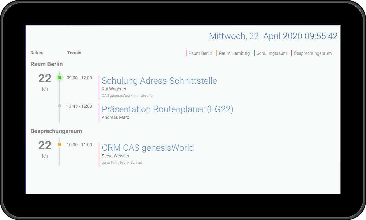 gid Ressourcen Display für CRM CAS genesisWorld